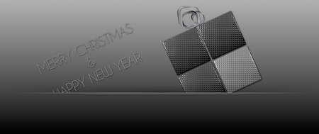 felice: Steel gift package Merry Christmas Stock Photo