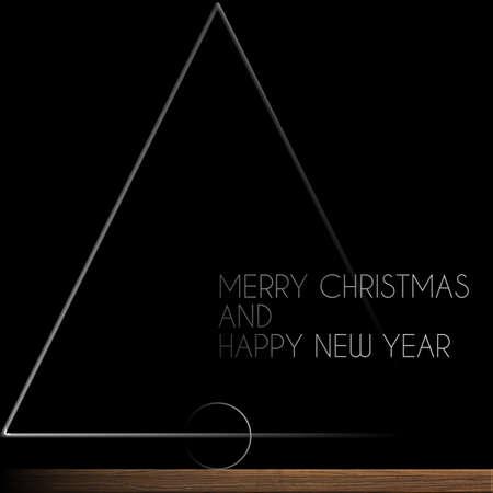 Albero di Natale in acciaio e legno Buon Natale