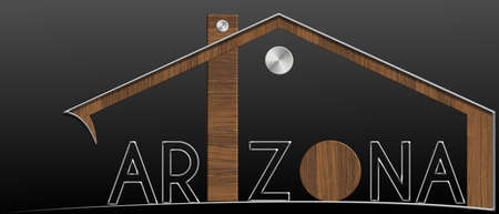 immobile: Arizona building with metal and wood profile