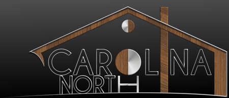 North Carolina building with metal and wood profile Stock Photo