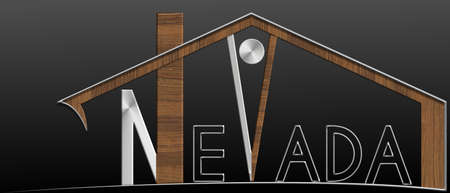 immobile: Nevada building with metal and wood profile