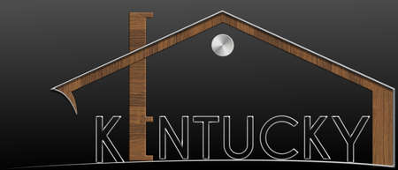 Kentucky Building with metal and wood profile Stock Photo