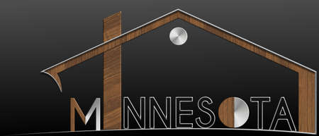 immobile: Minnesota building with metal and wood profile Stock Photo