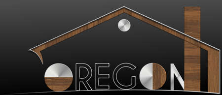 immobile: Oregon with building metal and wood profile