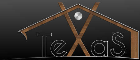 immobile: Texas Building with metal and wood profile Stock Photo