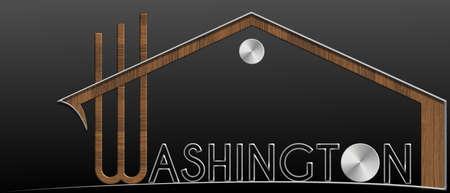 immobile: Washington building with metal and wood profile
