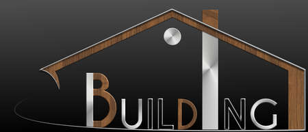 immobile: Building building with metal and wood profile