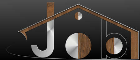 immobile: Job building with metal and wood profile
