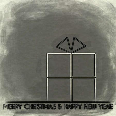 acciaio pacco di Natale tinta Buon Natale.
