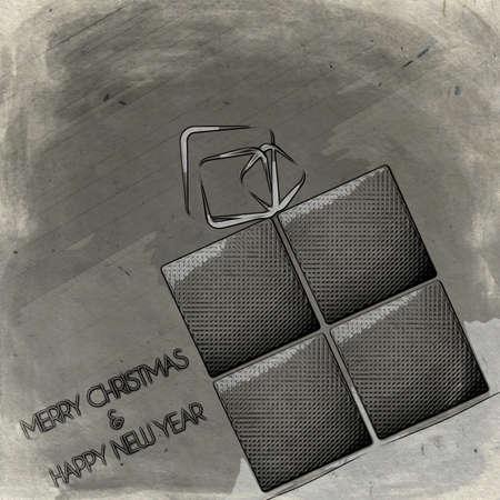 acciaio pacco di Natale tinta Buon Natale. Archivio Fotografico