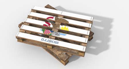 icona: 3D flag Illinois pallets
