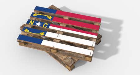 icona: 3D pallet flag North Carolina Stock Photo