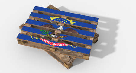 icona: 3D pallet flag North Dakota