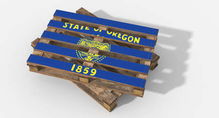 icona: 3D Oregon flag pallets Stock Photo