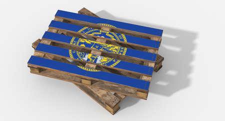 icona: 3D Nebraska flag pallets.