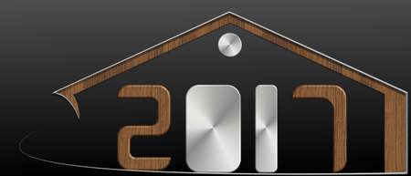 2017 edificio con metallo e profilo in legno