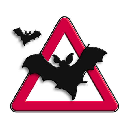 Warning or Caution red bat