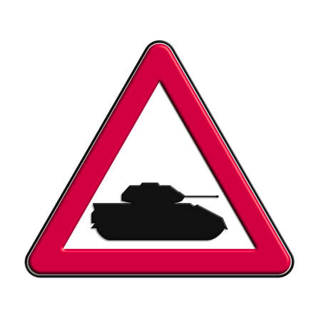 Warning or caution of red war Stock Photo