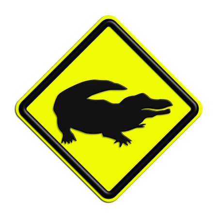 icona: Warning or caution in yellow and black crocodile
