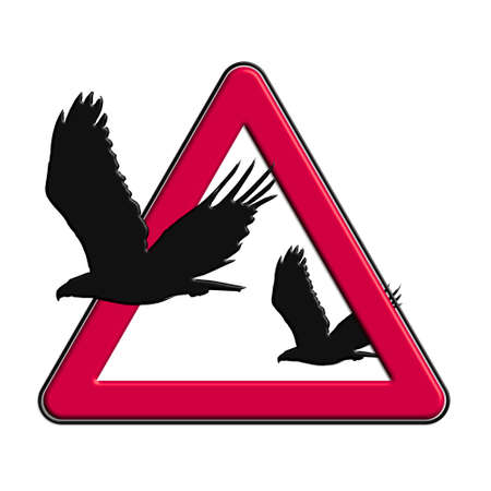 Warning or caution in red eagles