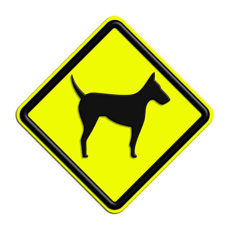 icona: Warning or caution in yellow and black dogs