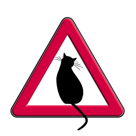 Warning or caution in red cats