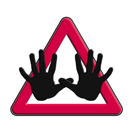 alt: Warning or caution in red alt Stock Photo