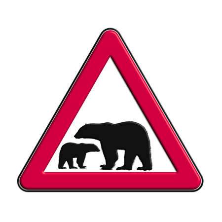 Warning or caution in red bears