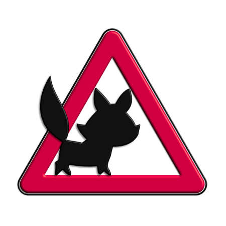 icona: Warning or caution in red fox Stock Photo