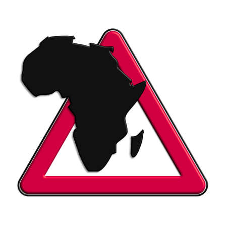 Warning or caution in red Africa