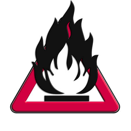Warning or caution in the red fire