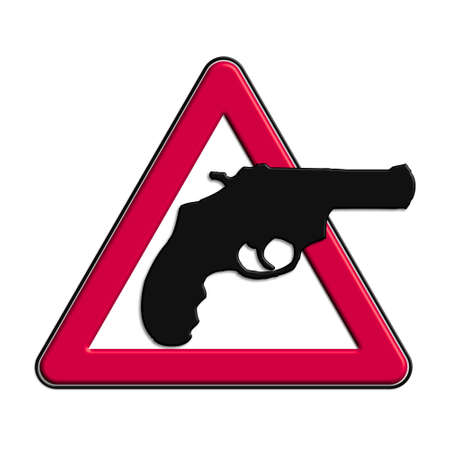 icona: Warning or caution in red robberies Stock Photo