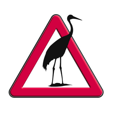 Warning or caution in red herons