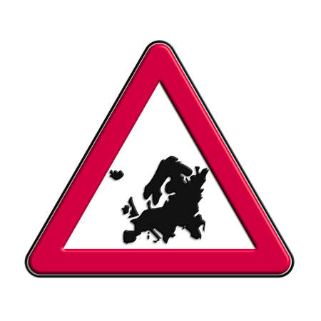icona: Warning or caution in red Europe Stock Photo