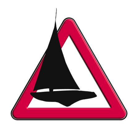 icona: Warning or caution in red boats