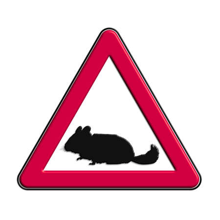 Warning or caution in red mouse Stock Photo
