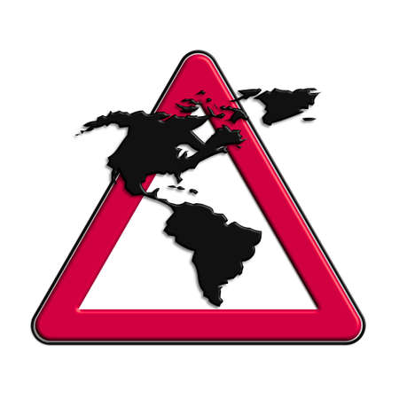 Warning or caution in red Americas
