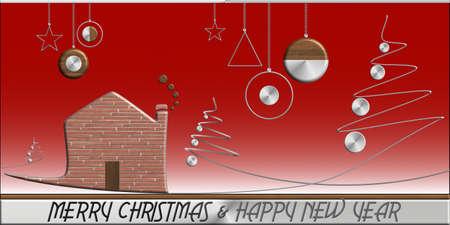 Albero di Natale e acciaio e mattoni