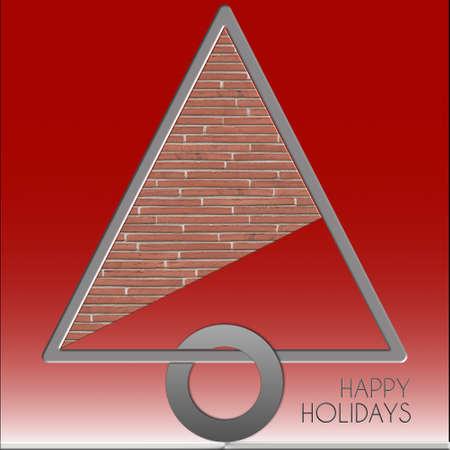 Albero di Natale Happy Holidays Metallo e mattone