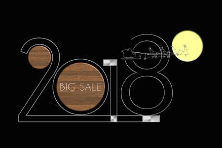 Anno Nuovo Anno 2018 grande vendita acciaio e legno