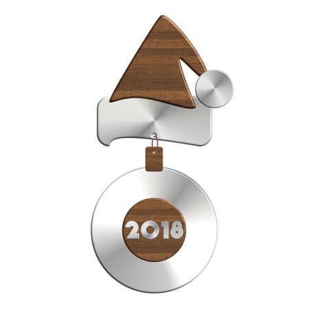 Babbo Natale 2018 in acciaio e legno Archivio Fotografico