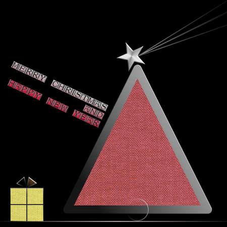 Acciaio della stella di stella e panno nuovo anno felice