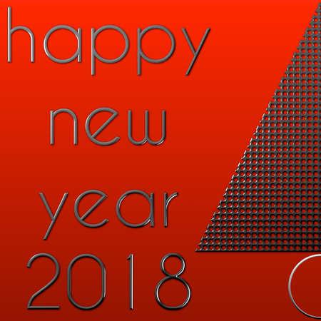 Albero di Natale Felice Anno Nuovo 2018 Archivio Fotografico