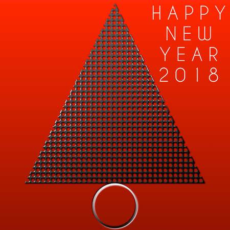 Albero di Natale Felice anno nuovo 2018