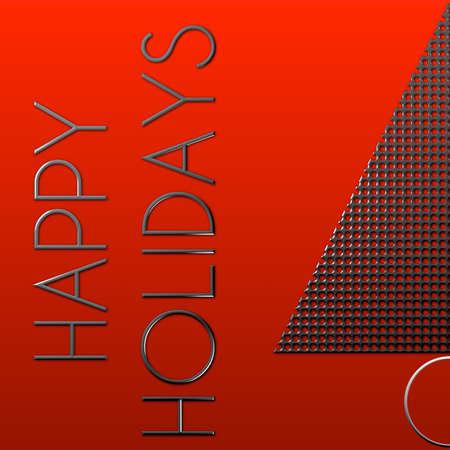 Albero di Natale Happy Holidays