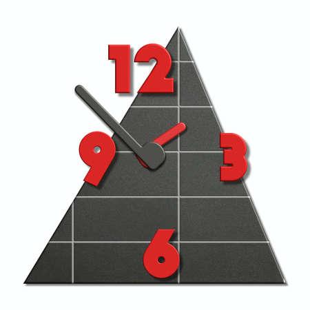 Reloj de diseño de cerámica Foto de archivo