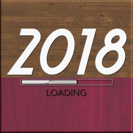 2018 loading Foto de archivo