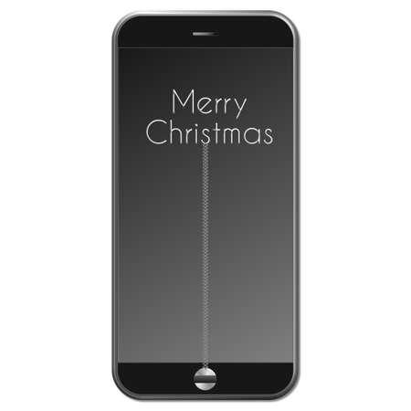 Buon Natale telefono con sfondo sfumato