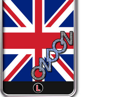 Phone with home button London Stock Photo