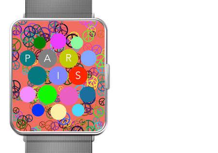 Clock with screen Paris Peace Applications